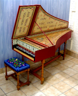 Harpsichord in Flemish style; for more info, click the image.