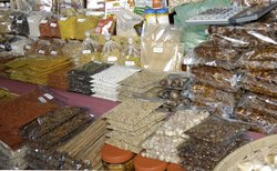 Spices at an outdoor market, Thailand. Image provided by Classroom Clipart (http://classroomclipart.com)