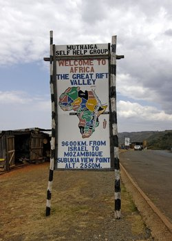 Rift Valley Sign, Kenya Africa. Image provided by Classroom Clip Art (http://classroomclipart.com)