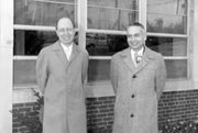 Eugene Wigner (left) and Alvin Weinberg
