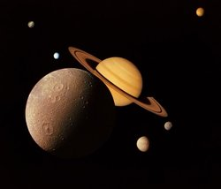 The Saturnian System (photographic montage)